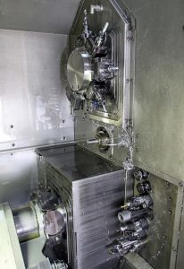 Traub TNL32 twin-spindle, twin-turret machine from Kingsbury