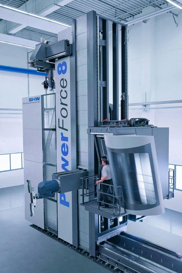 SHW Powerforce 8000 moving column machine
